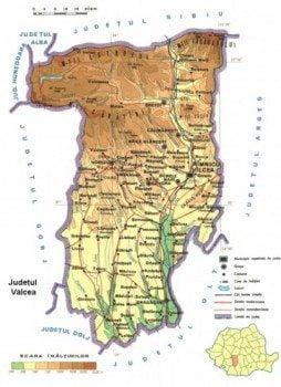 Harta Judetului Valcea Vazuta Din Satelit Harta Fizica Oferte