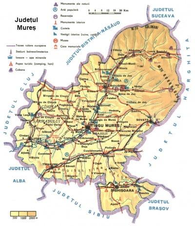 Harta Judetului Mures Vazuta Din Satelit Oferte Litoral 2020
