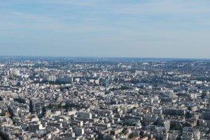 Fotografii din Turnul Eiffel, Paris, France, vazute de la ultimul nivel 1
