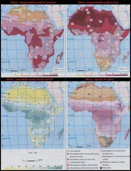 Harta Africi vazuta din satelti, Harta fizica a Africii 4