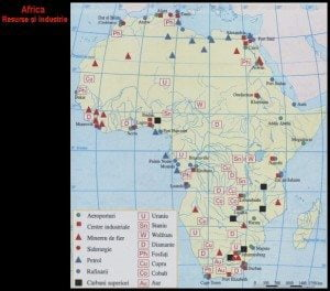 Harta Africi vazuta din satelti, Harta fizica a Africii 5