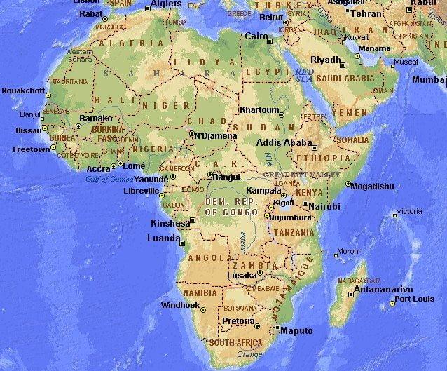 Imagini pentru AFRICA HARTA