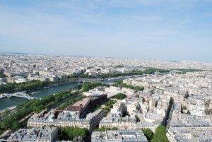 Fotografii din Turnul Eiffel, Paris, France, vazute de la ultimul nivel 3