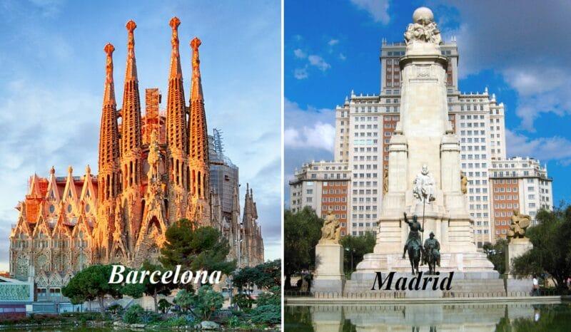Disponibil 1 partaj doamna! Vacanta sejur circuit Barcelona si Madrid Mai 2021