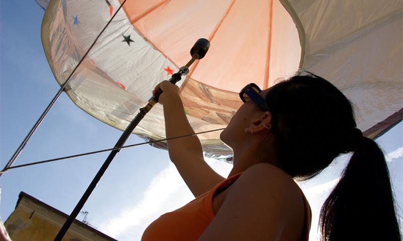 O buna idee de cadou, Lectie de zbor cu balonul in Arad 4