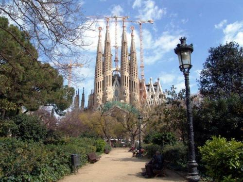 Imagine superba cu Sagrada Familia din BARCELONA
