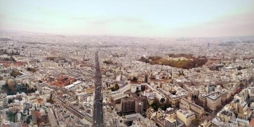 vedere turnul eiffel din Turnul Montparnasse